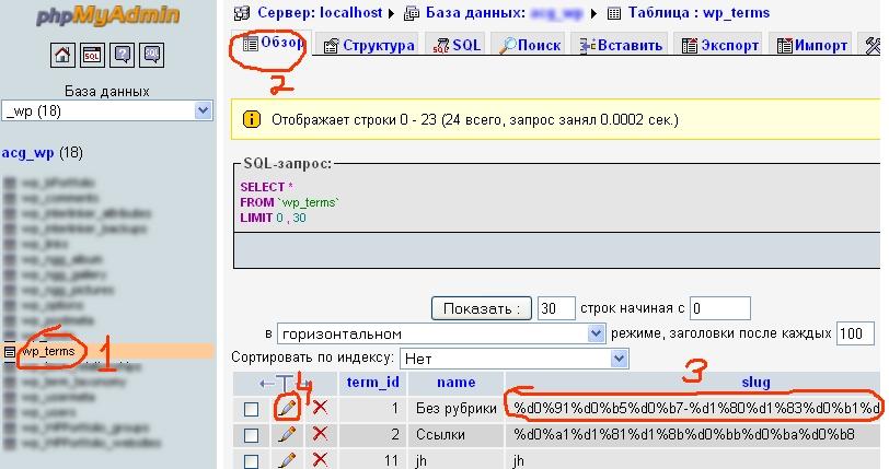 """Исправляем русские """"слаги"""" в базе данных"""