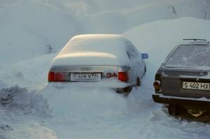 За время пребывания на базе выпало очень много снега